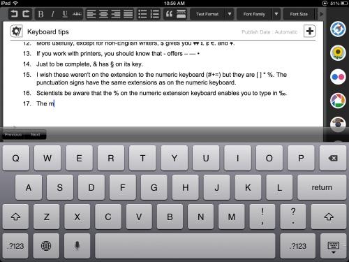 Keyboard screen shot